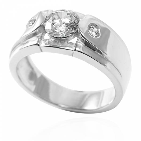 「永固愛情(寬/細)」鑲鑽造型設計純銀戒指|戒指推薦(單只價) 鑽戒