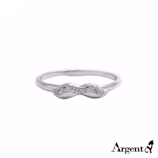 晶鑽翹鬍可愛造型純銀戒指|戒指推薦 戒指推薦