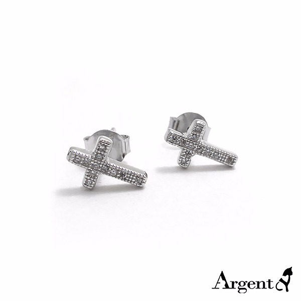 Mini drill diamond  sterling silver earrings  | 925 silver 純銀耳環推薦