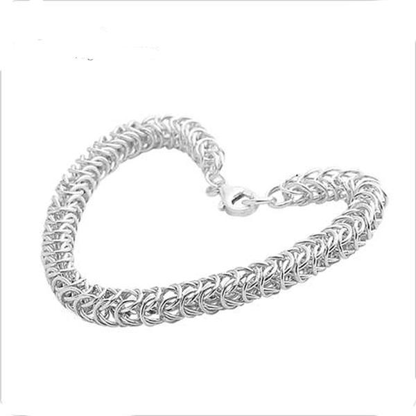 純銀單手鍊-5.5mm「心鎖」粗鍊獨特純銀手鍊|999純銀手工鍊(單條價)(20公分內.請註明鍊長尺寸) 999純銀手工鍊