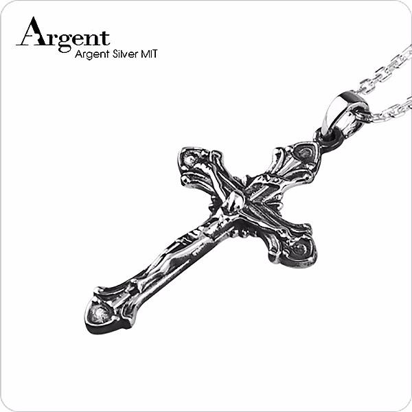 古典十字(INRI)造型純銀項鍊銀飾|銀項鍊推薦 銀項鍊推薦