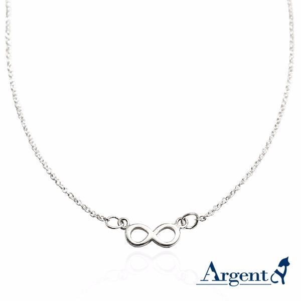 「簡約無限(平面)」造型純銀項鍊銀飾|銀項鍊推薦 銀項鍊推薦