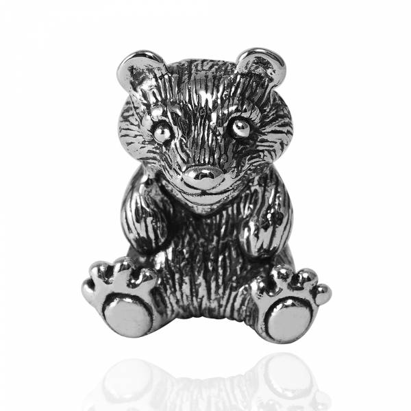 台灣黑熊造型純銀擺件-台灣保育類動物|銀飾推薦 保育動物
