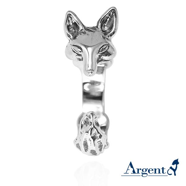 大耳兔动物造型雕刻纯银戒指|戒指推荐_ 戒指推薦