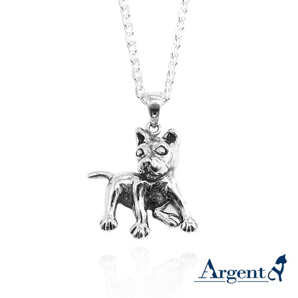 台灣犬(土狗)造型純銀項鍊銀飾|銀項鍊推薦(單條價) 銀項鍊推薦
