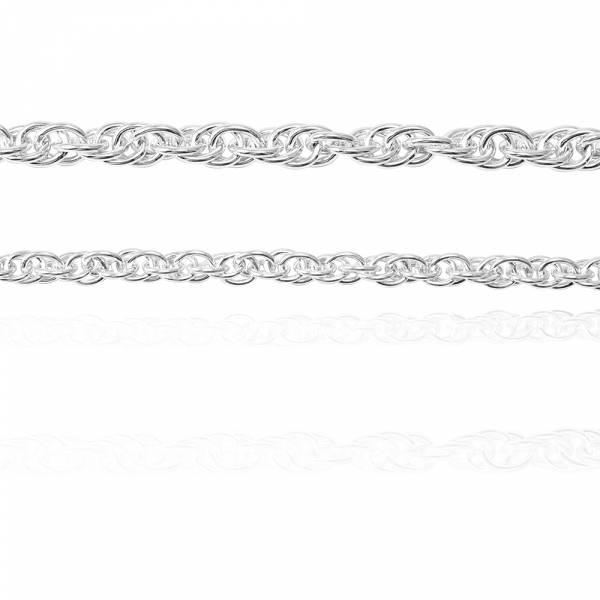 「麻花鍊(4mm+5.5mm)」925銀飾造型系列純銀手鍊|925銀飾(各一條)(20公分內) 銀鍊