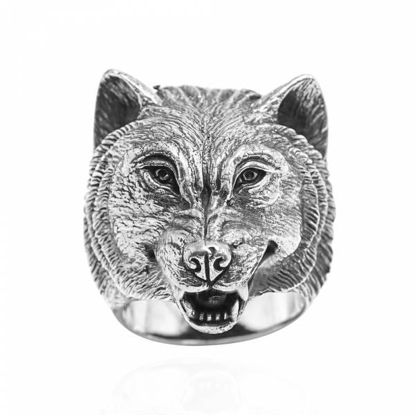 銀牙狼動物造型雕刻純銀戒指|戒指推薦 純銀動物戒指