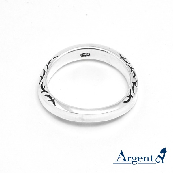 「迷情(寬/細)」純銀戒指曲線造型 側面圖紋刻紋(單只價) 銀對戒,銀對戒哪裡買,情人對戒品牌
