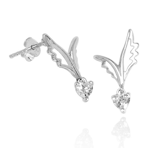 耳環-愛心羽翼 銀飾推薦