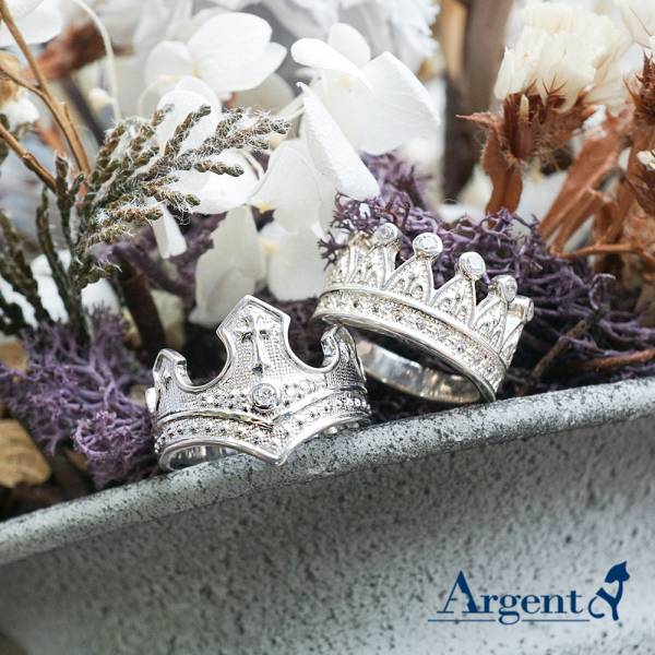 King Queen crown sterling silver ring | couple ring Recommended 皇冠戒指