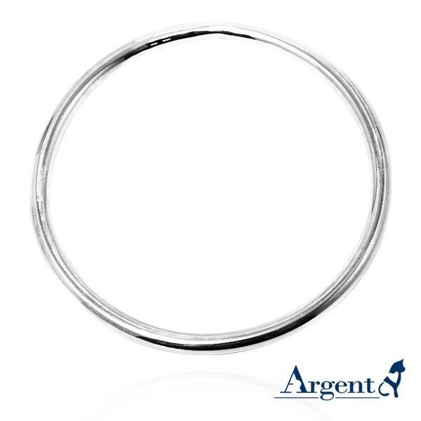 4mm「圓弧形」無開口手工製作純銀手環 999銀飾 999純銀手環