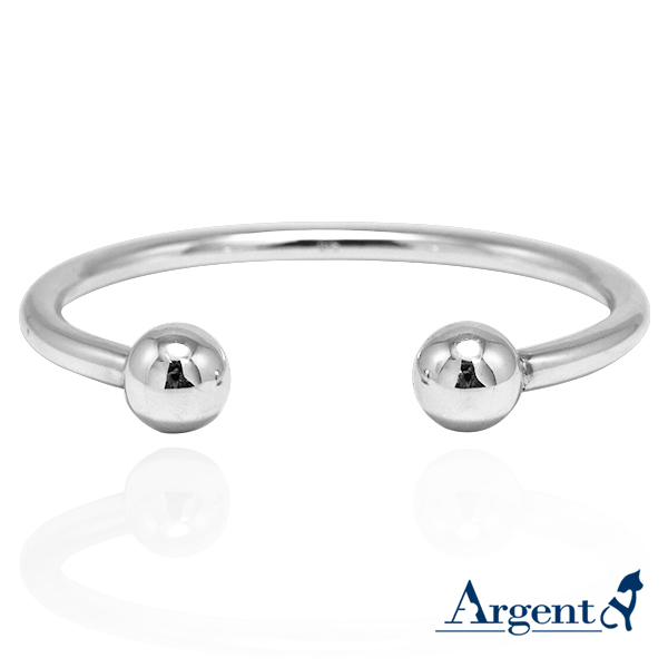 大環珠寬版造型銀手鐲純銀手環|925銀飾 純銀手環