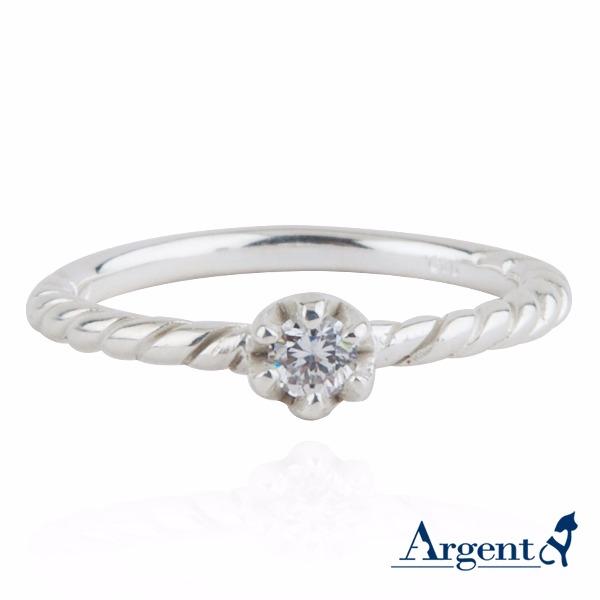 燦爛之眼鑲鑽純銀戒指|925銀飾戒指推薦 戒指推薦