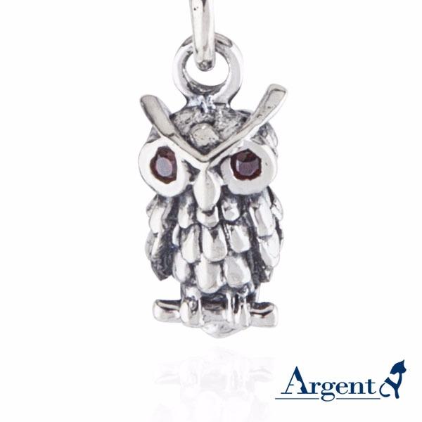 智慧貓頭鷹造型鑲鑽純銀項鍊銀飾|銀項鍊推薦 銀項鍊推薦,貓頭鷹,項鍊,智慧