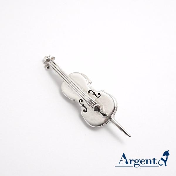 大提琴造型纯银胸针造型别针|CJHan联名 大提琴造型纯银胸针造型别针|CJHan联名