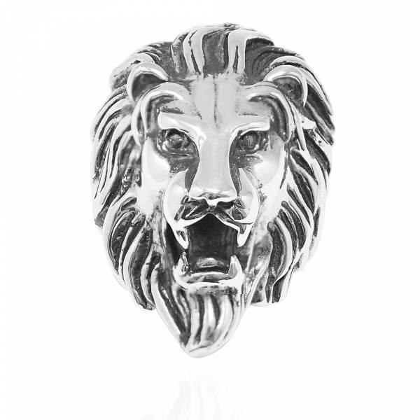 獅子王-動物造型雕刻純銀戒指|戒指推薦 動物戒指