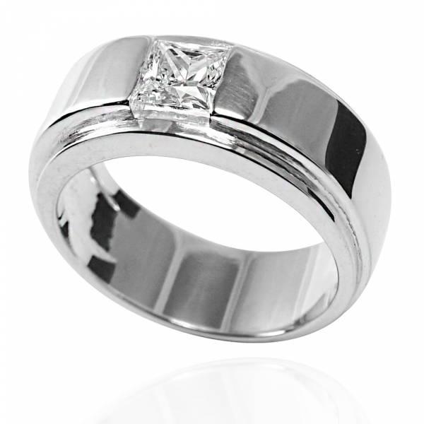 「摯情」鑲鑽造型設計純銀戒指|戒指推薦 男鑽戒