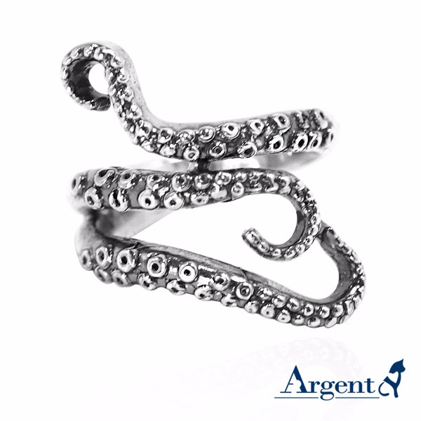 「章魚」動物造型雕刻純銀戒指|戒指推薦 戒指推薦
