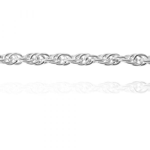 純銀單手鍊-5.5mm「麻花鍊」造型純銀鍊|925銀飾(單條價) 銀手鍊