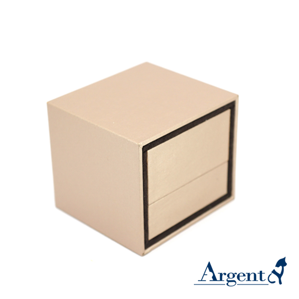 抽屉戒指盒(棕色)(咖啡色)(黑底)(适合单戒指) 求婚戒指盒
