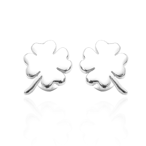 Small lucky openwork sterling silver earrings | 925 silverware 純銀耳環推薦
