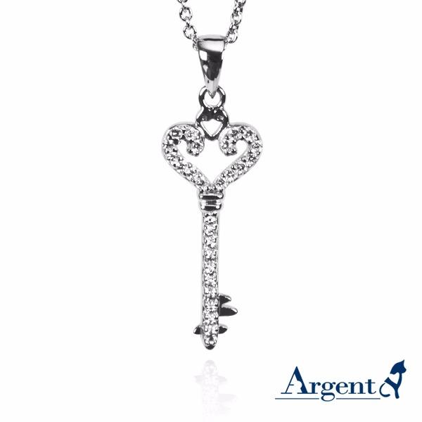 愛心鑰匙造型純銀項鍊銀飾 銀項鍊推薦 銀項鍊推薦
