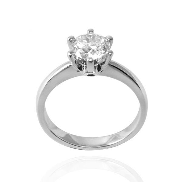 單戒-單顆美鑽(18K金+1.05ct(克拉))珠寶六爪鑲鑽培育真鑽(單只價) 求婚戒指