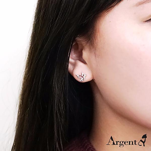 小鳳蝶簍空造型純銀耳環推薦|925銀飾 純銀耳環推薦