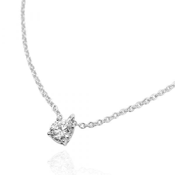 14K金/18K金-「唯一的愛(30分)」培育真鑽-造型項鍊金飾(不挑款細鏈) K金真鑽項鍊推薦