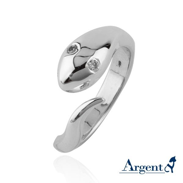 「蛇」動物造型雕刻純銀戒指 戒指推薦 戒指推薦
