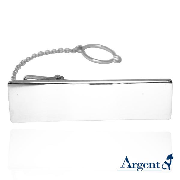 寬長牌(1.0公分高度)純銀領帶夾銀飾|領帶夾推薦-可加購刻字 領帶夾推薦