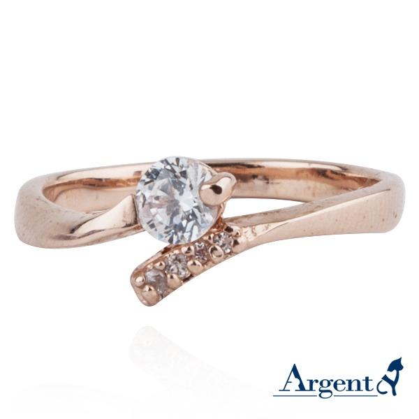 「約定」造型白鑽鑲嵌純銀戒指 戒指推薦 戒指推薦