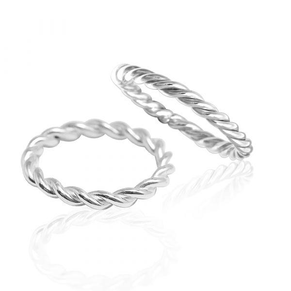「扭紋(細/粗)」造型純銀戒指|925銀飾戒指推薦(單只價) 戒指推薦