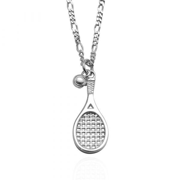 網球拍(大/小)造型純銀項鍊銀飾|銀項鍊推薦 網球拍