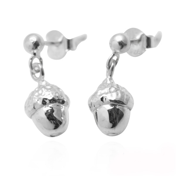 Small acorn earrings sterling silver earrings | 925 silver 純銀耳環推薦