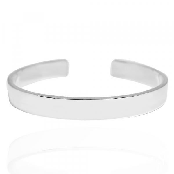 10mm「簡約(無刻字)」純銀手環|純銀(可加購刻字)手鐲 純銀手環