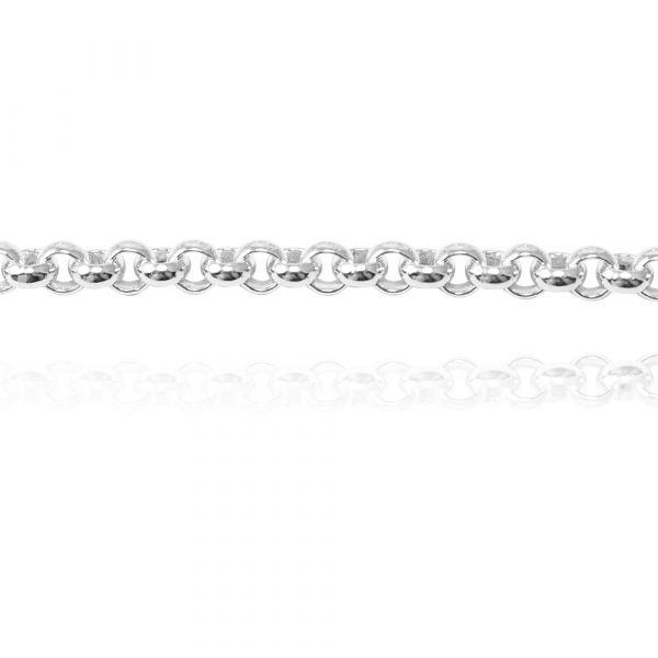 純銀單手鍊-4mm「小圓鍊」造型純銀鍊|925銀飾(單條價) 銀手鍊