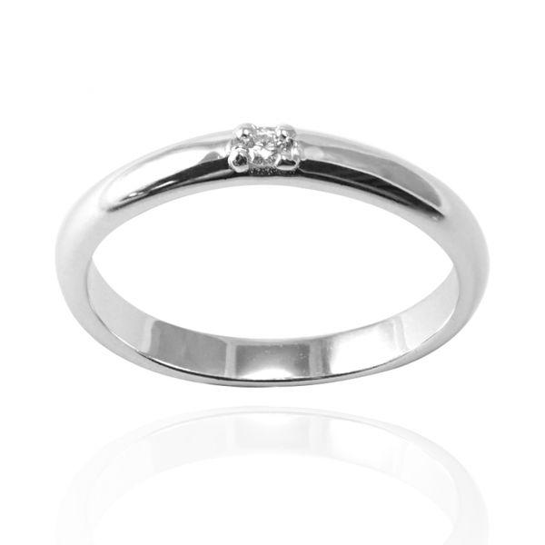 「专情」白钻素雅纯银戒指|戒指推荐 求婚告白戒指推薦