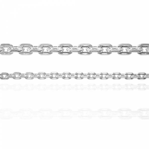 純銀對手鍊-4mm+6.5mm「方格鍊」純銀手鍊|925銀飾(粗+細各一條)(一對價) 純銀手鍊