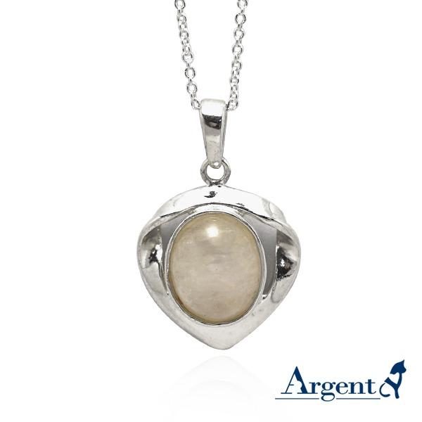 寶石項鍊「心花寶鏡」天然寶石純銀項鍊銀飾|銀項鍊推薦 銀項鍊推薦
