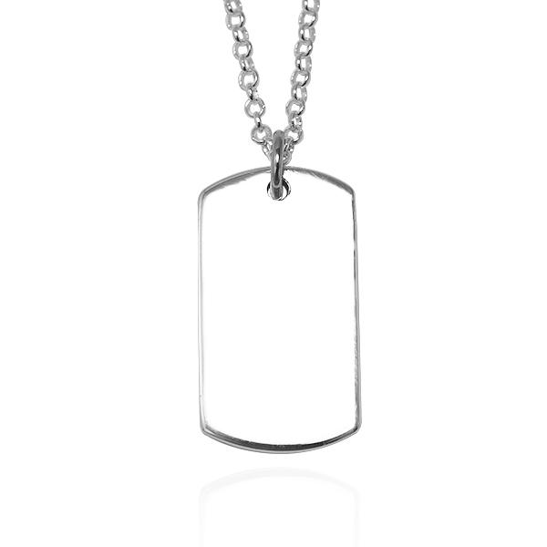 「軍牌(小.女)(無刻字)」(2mm鍊)項鍊銀飾|客製化項鍊 軍牌項鍊