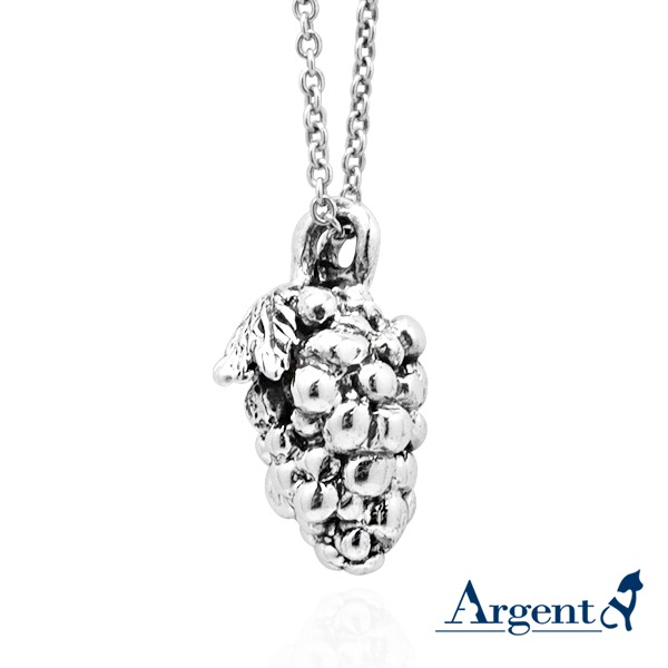 可愛小葡萄造型純銀項鍊銀飾|銀項鍊推薦 銀項鍊推薦