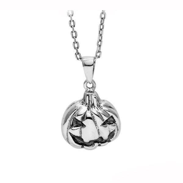 小南瓜可愛萬聖節造型純銀項鍊銀飾 銀項鍊推薦 銀項鍊推薦