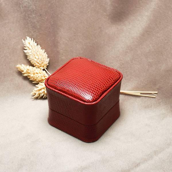 皇家貴族單戒盒(外紅內黑)-飾品收納盒|收納首飾盒 皮革戒指盒