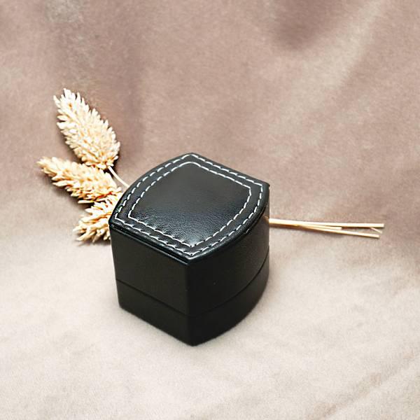 夢娜單戒盒(外黑內黑)-飾品收納盒|收納首飾盒 求婚戒指盒
