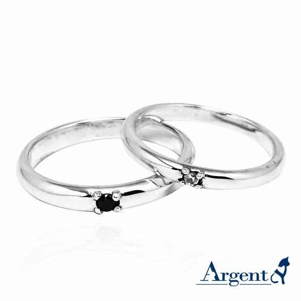 對戒-「專情」鑲鑽簡約情人戒指|求婚戒指推薦(一對價) 對戒推薦