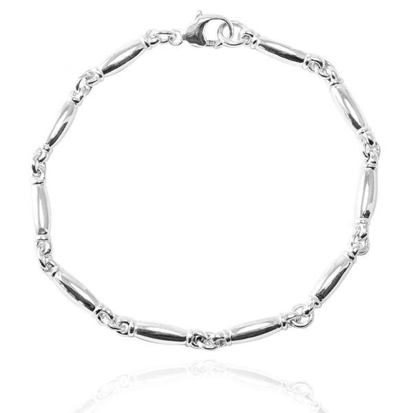 環節鍊4mm純銀風格手鍊銀飾|可搭配同款項鍊(20公分內) 男款手鍊