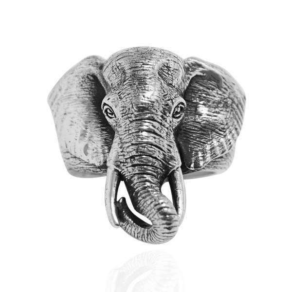 大象動物造型雕刻純銀戒指|戒指推薦 純銀動物戒指