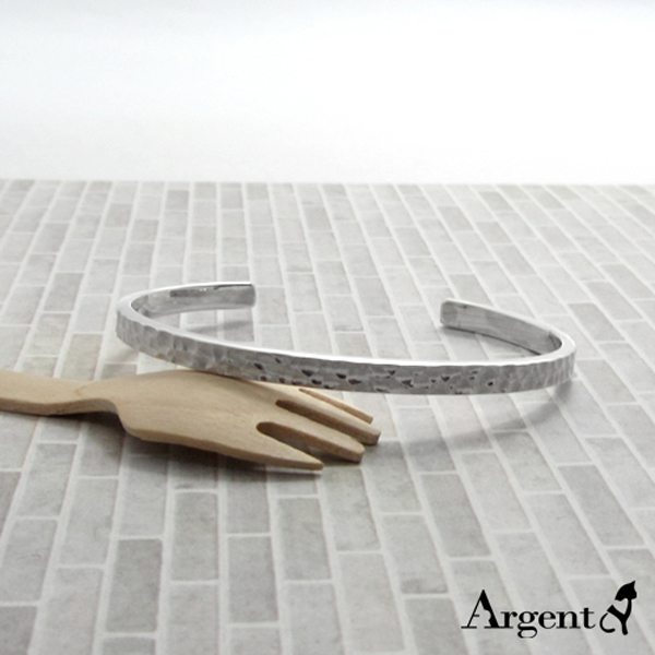 4mm「甜蜜烙印」手工系列純銀手環|925銀飾 純銀手環