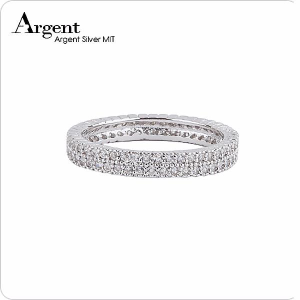 「排鑽」華麗鑲嵌純銀戒指|戒指推薦 戒指推薦